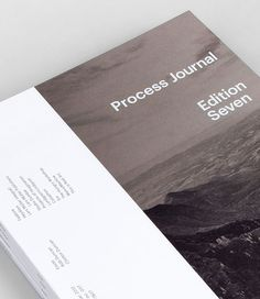 Process journal © Process, via graphic design layout, identity systems and great type lock-ups.