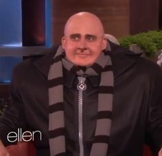 Steve Carell dressed as Gru. It counts as a cosplay.