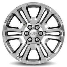 2016 #Tahoe #Wheel, 22 inch, CK158, 6-Split-Spoke Chrome, SINGLE: Personalize your 2016 Tahoe with these 22-Inch Chrome Accessory Wheels. Use only GM-approved wheel and tire combinations.