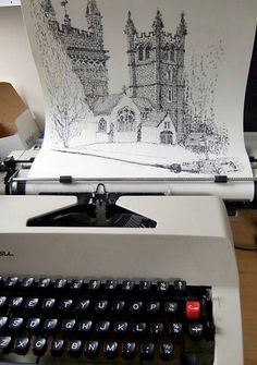 London based artist Keira Rathbone collects vintage typewriters and uses them to make creative art.