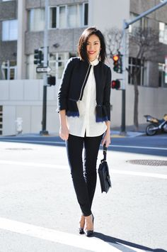 14 Black and White Interview Outfits to Land the Job | Brit + Co