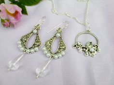 Silver set with white pearls by Mirtus63 on DeviantArt
