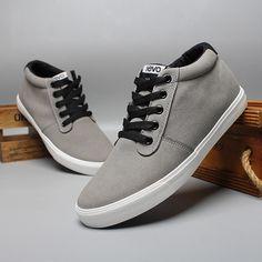 Fall and Winter Grey High-Cut Man Sneaker