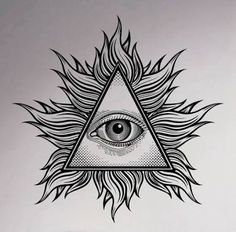 All seeing eye pyramid symbol in the engraving tattoo style. - All seeing eye pyramid symbol in the engraving tattoo style. Freemason and spiritual, illuminati and - Third Eye Tattoos, All Seeing Eye Tattoo, Illuminati Tattoo, Dreieckiges Tattoos, White Tattoos, Ankle Tattoos, Arrow Tattoos, Tattoo Flash, Sacred Geometry