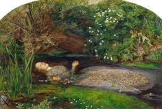 Pintura prerrafaelista: Ofelia de John Everett Millais