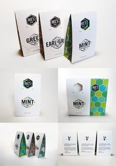 .Look at the clever beehive effect on this tea #packaging  PD