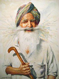 watercolor-Sikh