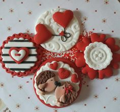 Valentine cupcake toppers  By Something sweet