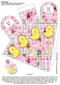 Icicle box Happy Easter 2 on Craftsuprint designed by Di Simpson -