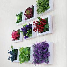 Tres dimensiones Artificial plantas verdes colgante de pared para la decoración casera al por mayor creativa decoración del hogar