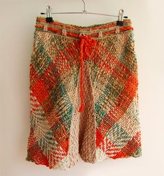 Items similar to Nature scent multicolor skirt on Etsy Loom Weaving, Hand Weaving, Tapestry Loom, Fashion Art, Womens Fashion, Textile Fabrics, Weaving Patterns, Knit Skirt, Refashion