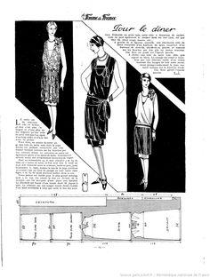 """ROBE pour le dîner in """"La Femme de France"""" 1927 (BnF Gallica)"""