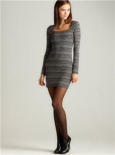 Free People Good Girl Gone Bad Bodycon Sweater Dress $56.99