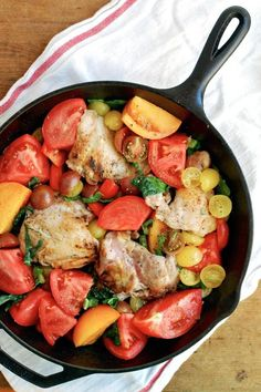 Baked chicken with tomatoes & garlic | via Brooklyn Supper
