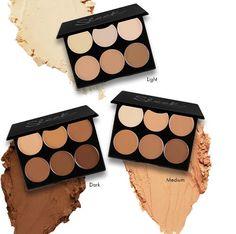 """Sleek Makeup Cream Contour Kit - paleta 6-ciu kremowych podkładów przy pomocy której wymodelujesz twarz metodą """"na mokro"""". Dostępna w trzech zestawieniach kolorystycznych. Cream Contour, Contour Kit, Sleek Makeup, Eyeshadow, Beauty, Eye Shadow, Cosmetology, Elegant Makeup, Eye Shadows"""