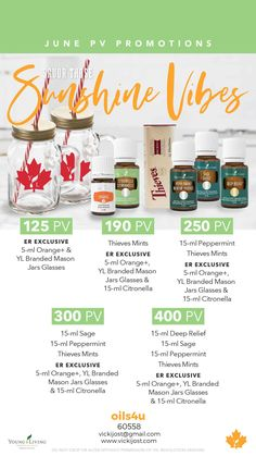 June promos for Canada. Citronella, Young Living, Peppermint, Essential Oils, June, Canada, Bottle, Mint, Flask