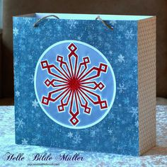 blå gavepose