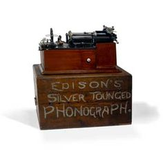 Edison Class M Phonograph  c. 1900    Shown with original display cabinet