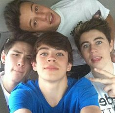 Nash Grier, Hayes Grier, Cameron Dallas, and Carter Reynolds