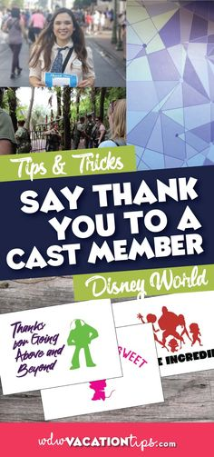 If you have vacationed at #DisneyWorld before you probably have had at least one memorable experience with a Cast Member, if not more. So the next time you have one of these moments here are some great ways to say thank you to a Disney #CastMember.