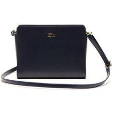 Lacoste Women's Small Chantaco Crossbody Bag ($158) ❤ liked on Polyvore featuring bags, handbags, shoulder bags, bags bags, leather goods, leather man bag, hand bags, crossbody handbags, leather purse and handbags crossbody