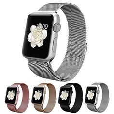 Vitech Fully Magnetic Closure Clasp Mesh Loop Milanese Stainless Steel Bracelet Replacement Band Strap for Apple Iwatch 38mm Silver