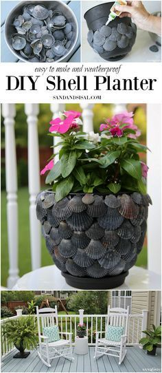 DIY Shell Planter - a fun and simple shell craft. c4a.bc9.myftpupload.com