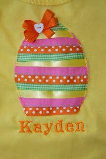 Ribbon Egg Shirt~cute and easy