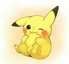 Pikachu is so adorable Cute Animal Drawings, Kawaii Drawings, Disney Drawings, Cute Drawings, Pikachu Drawing, Pikachu Art, Pokemon Fan, Pikachu Bebe, Pokemon Fusion