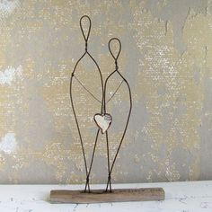 "Wire Sculpture ""Embrace True Love"" Cake Topper or Wedding gift. ©2013 idestudiet All Rights Reserved."