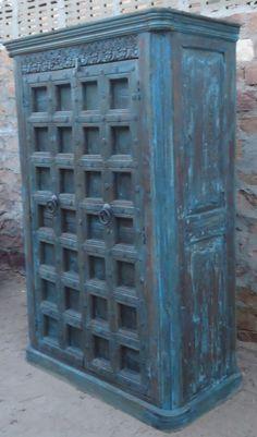 Indian Wooden Old Door Wardrobe