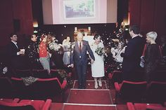 lovely cinema wedding