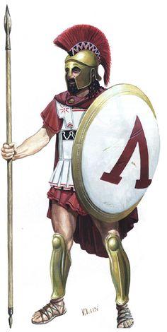 Spartan Hoplite with linen armour