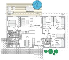 Sims House, House Layouts, My Dream Home, Bungalow, House Plans, New Homes, Floor Plans, Room Decor, Cottage
