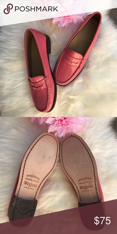 NWOT!Weejuns Penny Loafers! Sz 7 Petal Pink Weejuns Loafers! Sz 7 •NWOT Brand new never worn  Only tried on for pic purposes GH Bass Shoes Flats & Loafers