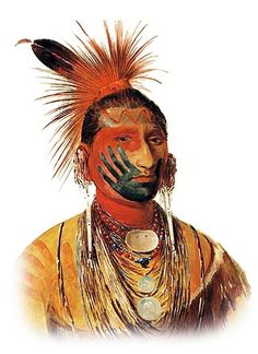This site has lots of information on Native American symbols including pictograms and war paint.