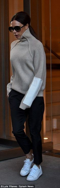 Victoria Beckham rushes out of hotel ahead of her New York Fashion Week 2016 show