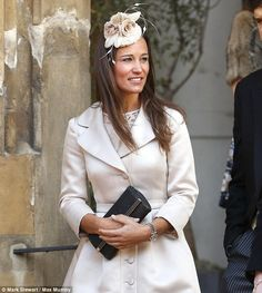 2-7-14.  Pippa Middleton at the marriage of Arabella Musgrave, 31, to George Galliers-Pratt, 34