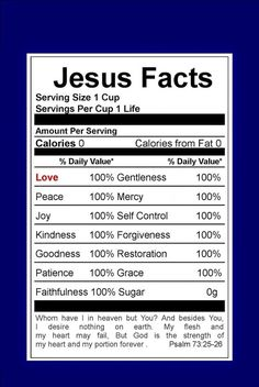Wanna be spiritually healthy? Try a personal relationship with Jesus Christ! Christian Faith, Christian Quotes, Christian Puns, Bible Scriptures, Bible Quotes, Godly Quotes, Bible Prayers, Jesus Facts, Lord And Savior