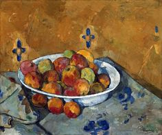 Great Paintings, Beautiful Paintings, Oil Paintings, Cezanne Still Life, Paul Cezanne Paintings, Black And White Canvas, Post Impressionism, Art Institute Of Chicago, Art World
