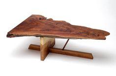 Nakashima-inspired elm burl coffee table.