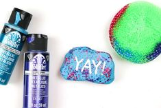 Today I am sharing my favorite dollar store rock painting supplies, so you can embrace this craft trend on the cheap! Rock Painting Supplies, Outside Paint, Country Chic Cottage, Loose Glitter, Creative Video, Makeup Sponge, Summer Diy, Glam Rock, Metallic Paint
