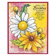 Stampendous Cling Mounted Rubber Stamps - Daisy Mix Stamp Set