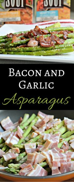 This Bacon and Garlic Asparagus is a perfect side dish or appetizer and is a great way to incorporate more veggies in your diet