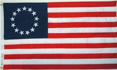Flag Resolution  Jun 14, 1777, passed by Congress. The continental flag was adopted, and in 1818, Congress determined the present design; the thirteen red and white stripes; the blue canton, or union, the segment in the upper left corner, containing the stars representing the states.