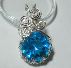 71 carats of Lazer Blue in Sterling Silver by KathysKreation, $75.00