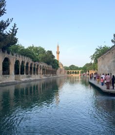 The Pool of Abraham, Şanlıurfa, Turkey. Abraham is the first of the Old Testament patriarchs and the father of Isaac.