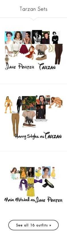 """Tarzan Sets"" by themadhatress24 ❤ liked on Polyvore featuring Forever New, Christian Louboutin, Allurez, Versus, Animal Planet, Mavi, TOMS, Anndra Neen, women's clothing and women"