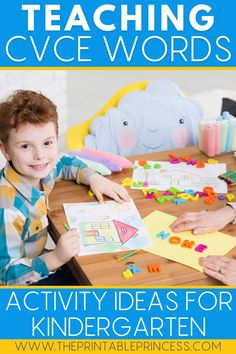 Are you teaching CVCe words in kindergarten? These CVCe teaching tips, activity ideas, and CVCe centers will help your students master this key literacy skill and have fun with CVCe word work.