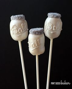 Pint Sized Baker: Mason Jar Cake Pops